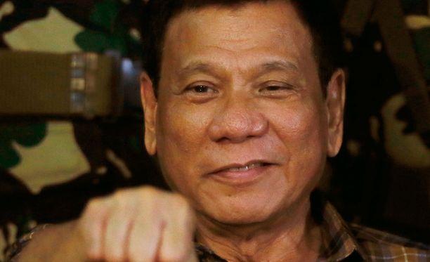Filippiinien presidentti Rodrigo Duterte.