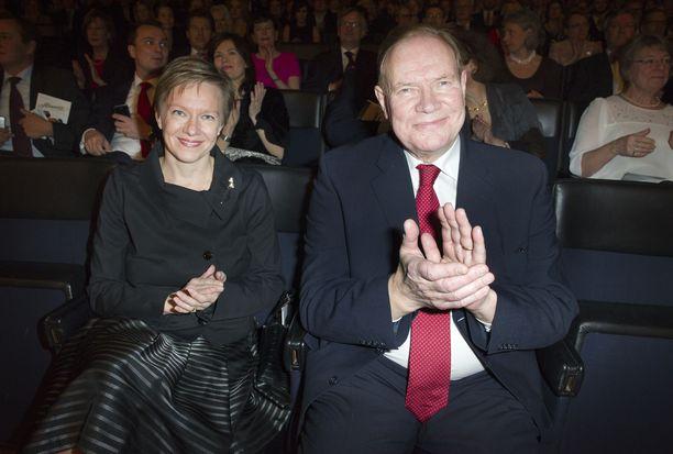 Päivi ja Paavo Lipponen Finlandia-talon Strauss-konsertissa vuonna 2011.