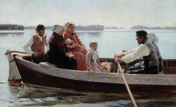 Albert Edelfelt maalasi Ristiäissaaton vuonna 1880.