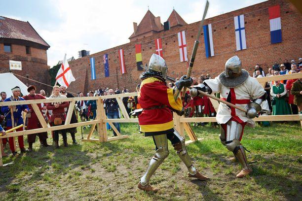Malborkin linnassa järjestetään keskiaikatapahtumia.