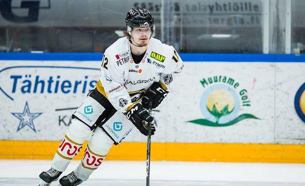 Ville Leskinen loukkaantui Sport-ottelussa.