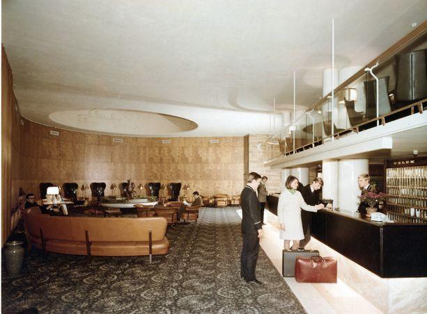 Hotelli Vaakunan aula 1970-luvulla.