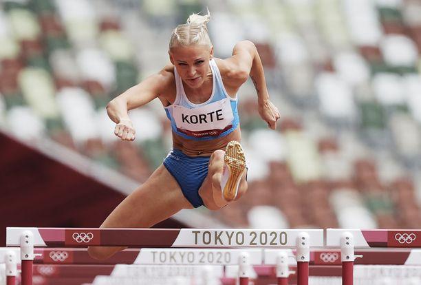 Annimari Korte kärsi kivuista Tokion matkansa aikana.