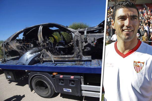 José Antonio Reyesin auto löydettiin turmapaikalta tuhoutuneena.