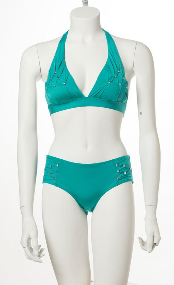Bikinit hopeakoristeilla, yläosa 99 € ja alaosa 79 €, Aubade.