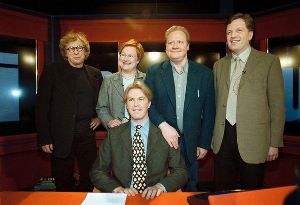 Presidenttiehdokkaat vierailivat vuonna 2000 Uutisvuoto-ohjelmassa.