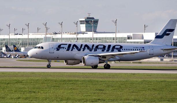 Finnairin lentoja perutaan.