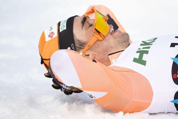 SM-kisojen väliaikalähdöt kuuluvat hiihtomuseoon. Kuvassa Ristomatti Hakola.