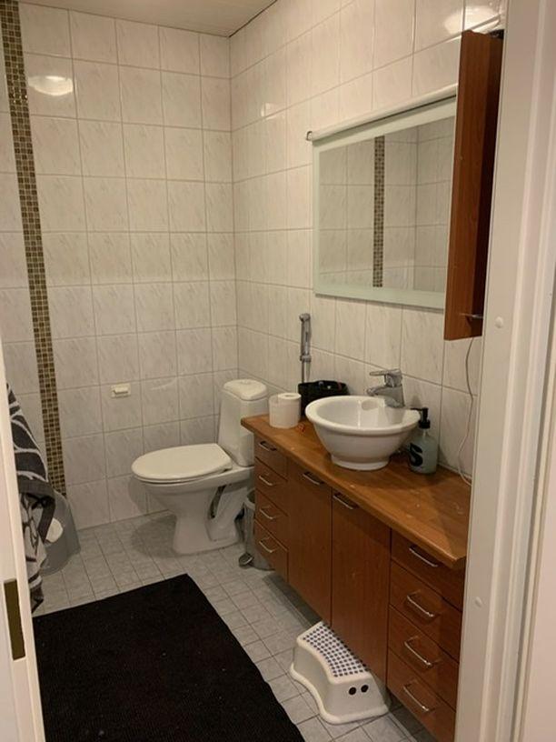Tältä wc näytti ennen remonttia.