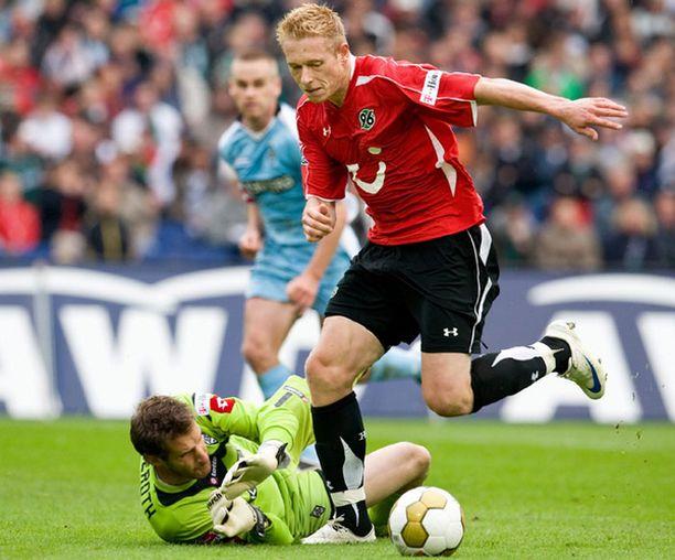 Mikael Forssell on iskenyt tällä kaudella kaksi bundesliigamaalia Hannoverille.