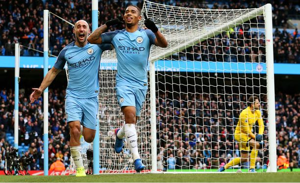 Gabriel Jesus on ottanut paikkansa Manchester Cityn avauksesta.