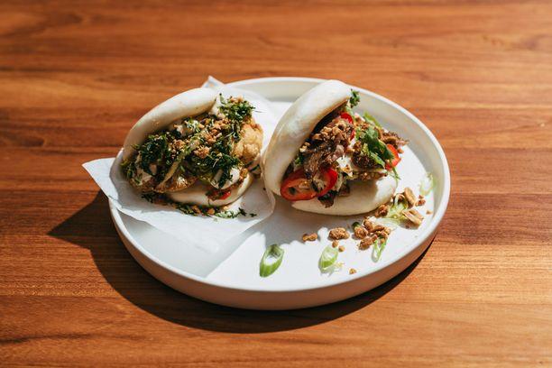 Baobao-ravintolan kukkakaali- ja possubaot.