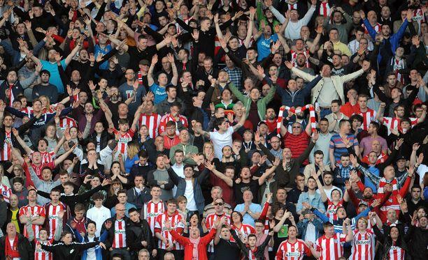 Sunderlandin fanikatsomossa nähtiin lauantaina erikoinen episodi.