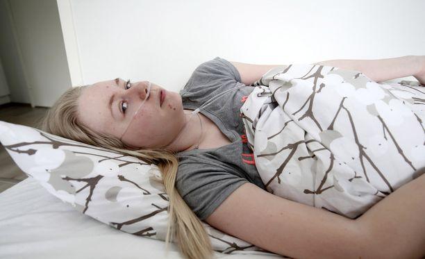 Lahtinen on yksi harvoista oireyhtymään sairastuneista suomalaisnuorista.