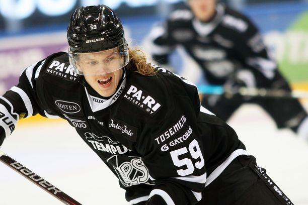 Topi Nättisen kauden toinen osuma, 3–2, ratkaisi voiton TPS:lle.
