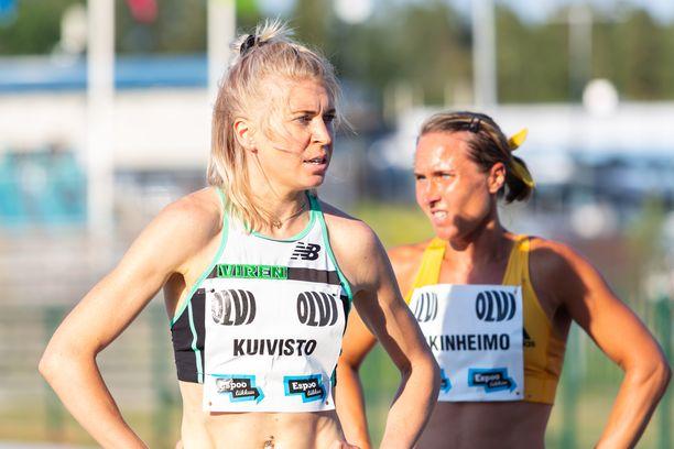 Sara Kuivisto hakee tällä kaudella 800 metrin Suomen ennätystä.