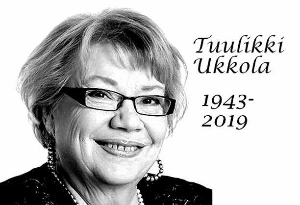 Tuulikki Ukkola kuoli 75-vuotiaana.