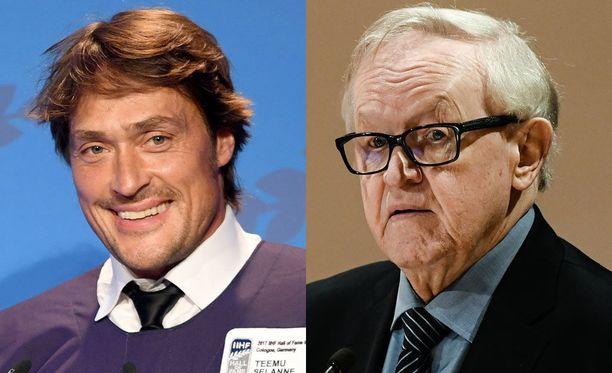 Teemu Selänne ja Martti Ahtisaari olivat pelikavereita Kummit-golfissa.