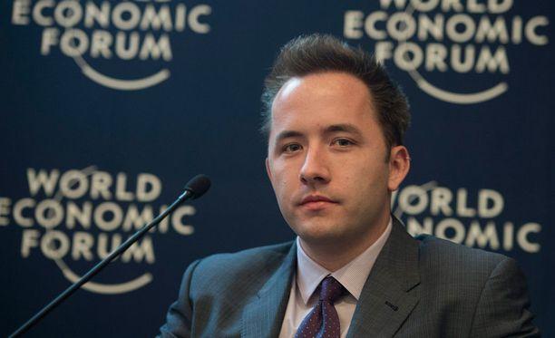Drew Houston osallistui maailman talousfoorumin kokoukseen muutama vuosi sitten.