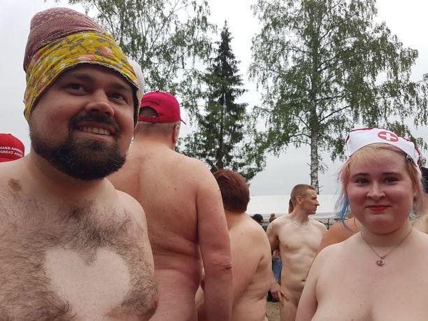 Joni Lahdesmäki ja Jessica Sirén löysivät toisistaan juoksuseuraa.