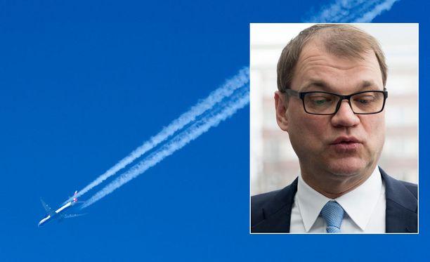 Pääministeri kuvaili Suomen taloutta tällä kertaa lentotermein.