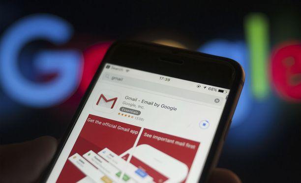 Google uudistaa sähköpostiaan. Kuvituskuva.