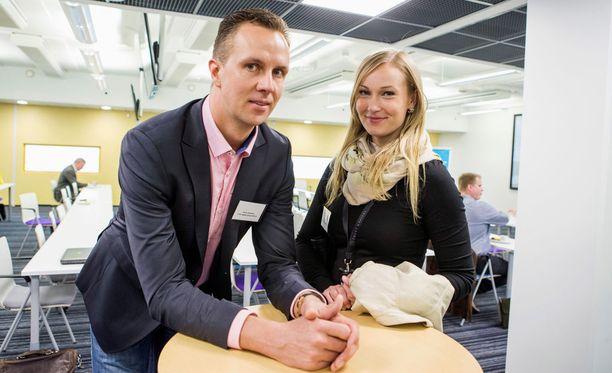 Tuomo Rissanen on osaomistaja ja Jenni Jantunen tekee töitä Ropo Capital -nimisen yrityksen parissa.