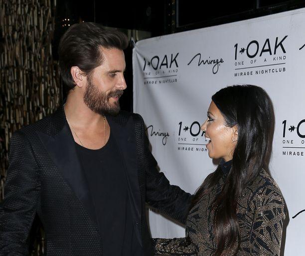 Scott Disick ja Kourtney Kardashian olivat yhdessä useita vuosia. Kuva vuodelta 2015.