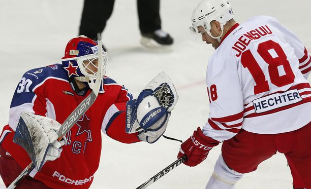 Jesse Joensuu ja Jokerit haastavat Moskovan ZSKA:n.