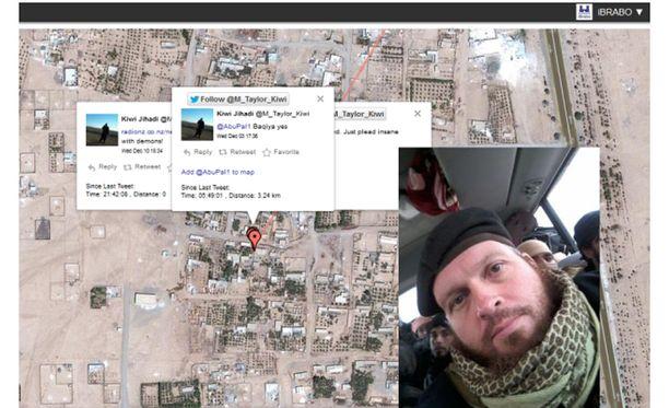 Isis-taistelija Mark John Taylorin twiitit paljastivat täsmälleen, missä hän on kulkenut Syyriassa.