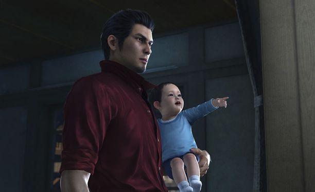 Haruto-vauva on suuressa osassa uutta Yakuza-peliä.