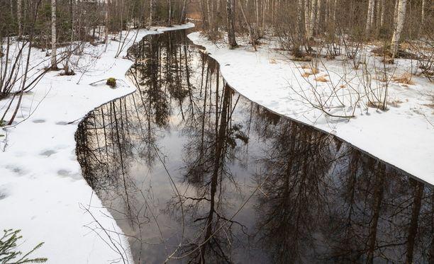 Suomalaista jokimaisemaa.