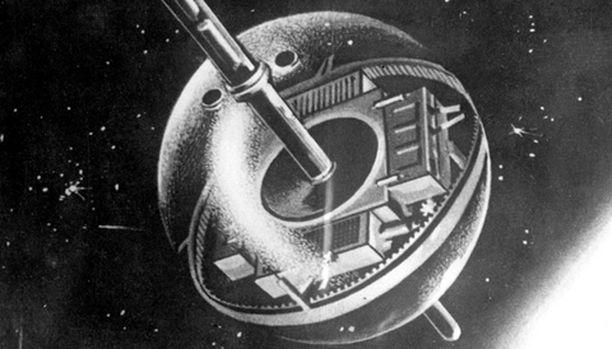 Sputnik -maailman ensimmäinen tekokuu oli tämän näköinen.