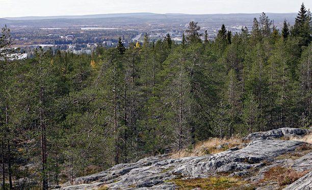 Näkymä Ounasvaaralta.