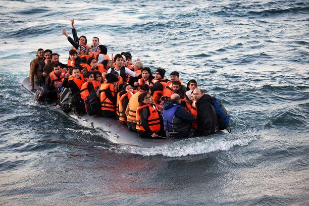 Vuonna 2015 turvapaikanhakijoita vyöryi EU-maihin muun muassa Turkista.