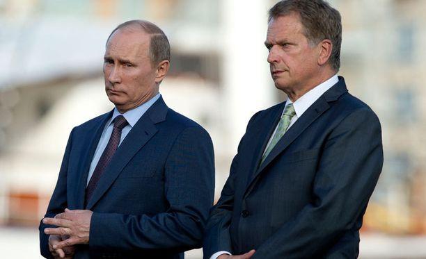 Venäjän presidentti Vladimir Putin vieraili presidentti Sauli Niinistön vieraana viime kesänä.
