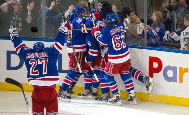 New York Rangers hakee toista voittoaan ensi yönä.