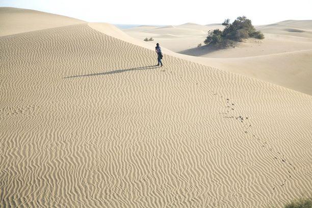 Maspalomasin hiekkadyynit ovat hätkähdyttävä näky.