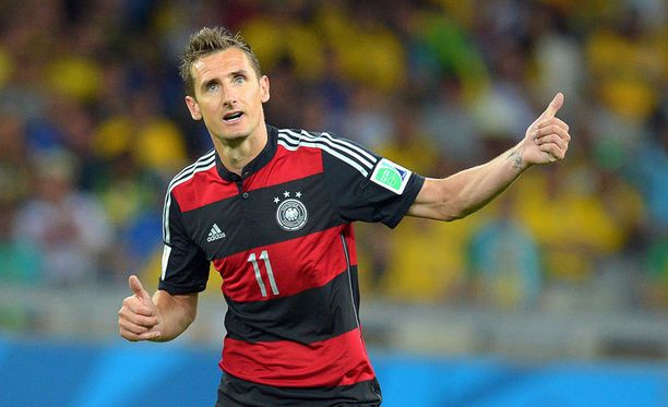 Miroslav Klose ei heittänyt volttia, vaikka nousi kaikkien aikojen MM-maalitykiksi.