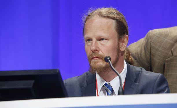 Juho Eerola valittiin perussuomalaisten kolmanneksi varapuheenjohtajaksi.