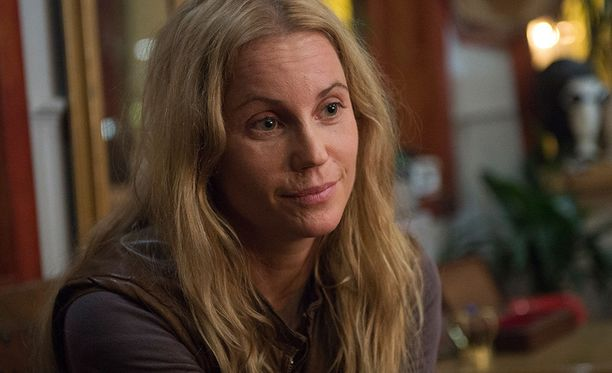 Sofia Helin näyttelee sarjassa rikospoliisi Saga Norénia.