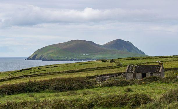 Taustalla näkyvä Great Blasket on Euroopan läntisin saari.