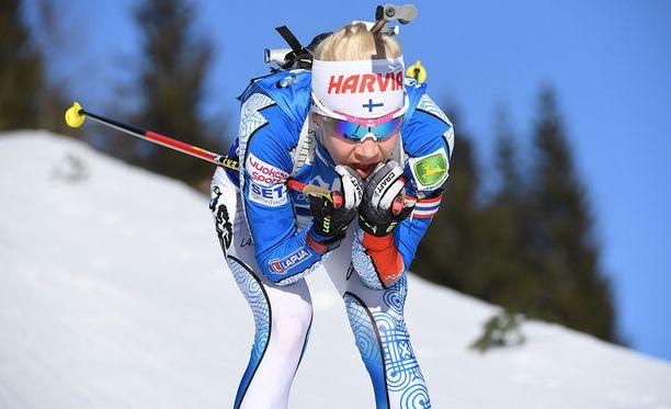Kaisa Mäkäräinen on hyvässä hiihtovireessä ennen Pyeongchangin olympiakisoja.
