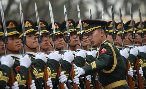 Kiinan vapautusarmeijan mukaan uhka Tyynellämerellä on kasvanut.