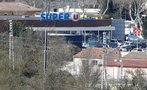 Ampumiset ja panttivankitilanne tapahtuivat Trebes'ssä, Etelä-Ranskassa.