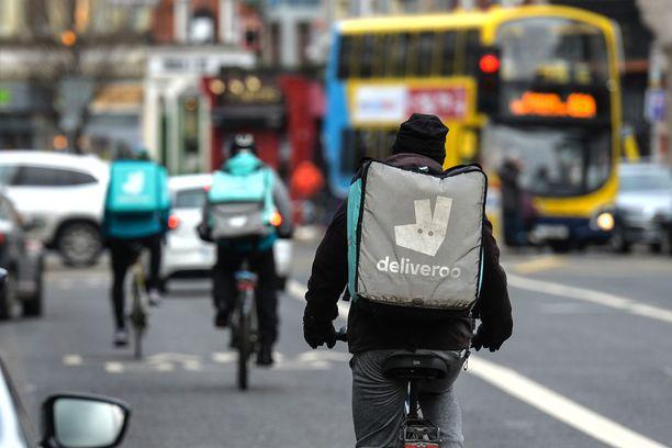 Ruokaläheteillä on riittänyt alkuvuodesta Dublinissa töitä.