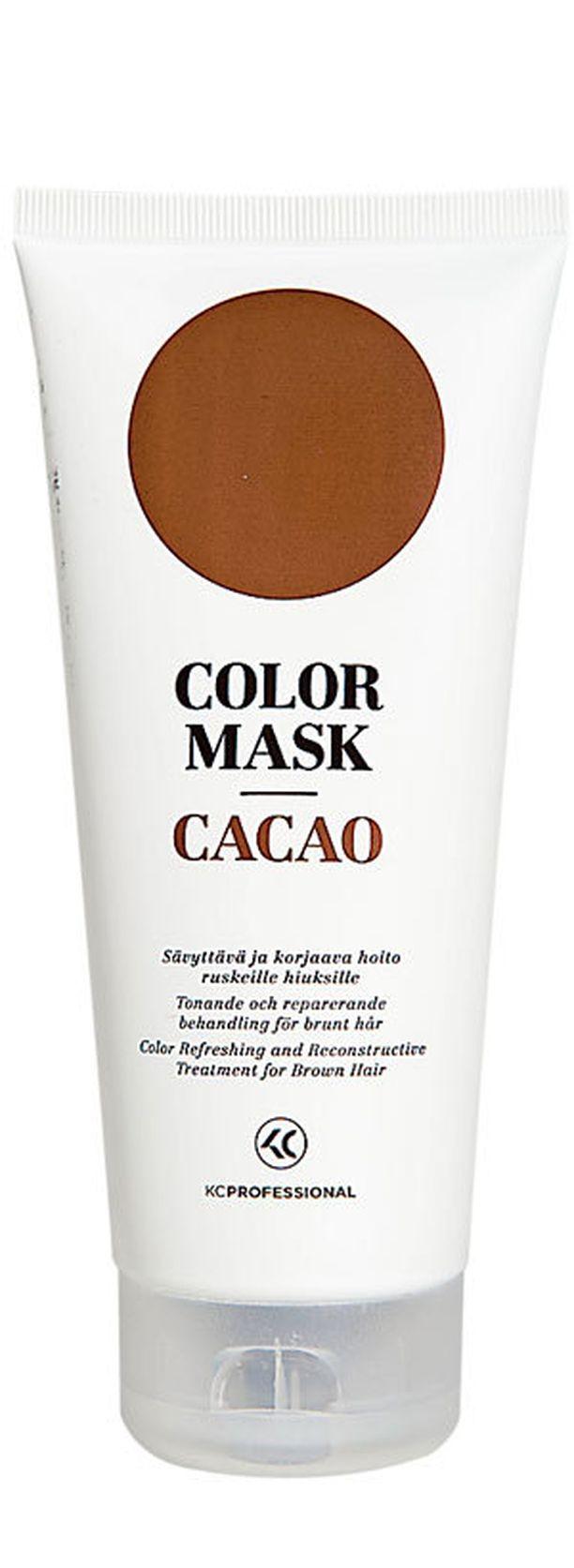 Sävyttävä ja korjaava KC Colour Mask -tehohoito antaa hiuksille lämpimän ruskean vivahteen. 16,50 €/200 ml.