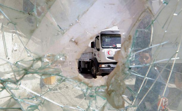 Avustus Itä-Ghoutan alueelle on vaikeaa Syyrian hallituksen toimien takia.