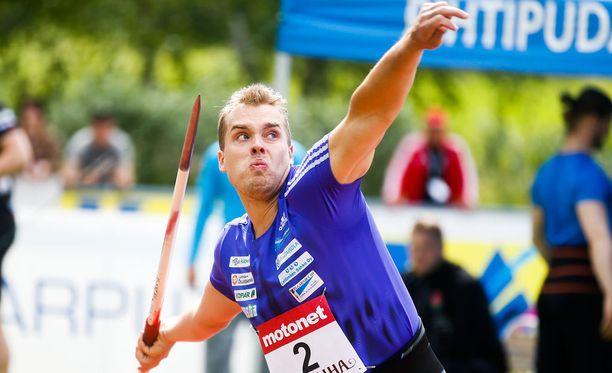 Ari Mannion kesän paras noteeraus on oma ennätys 86,82 metriä. Tuolla tuloksella mies on kauden keihästilastossa viidennellä sijalla.