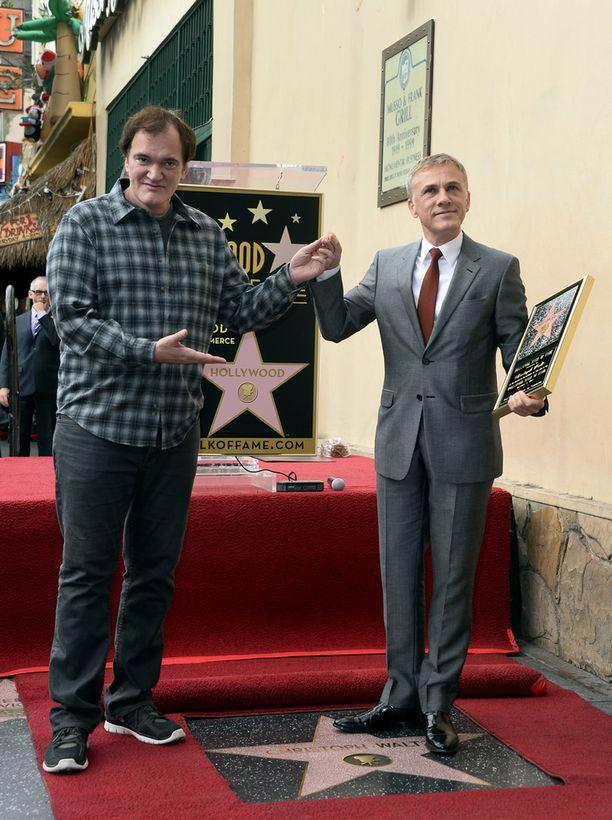 Waltz sai viime vuonna oman tähden Hollywoodin Walk of Fameen. Tilaisuudessa oli paikalla myös ohjaaja Quentin Tarantino.